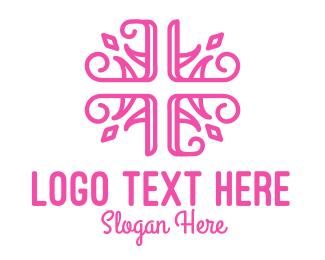 Church - Floral Cross logo design