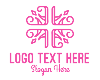 Wedding Planner - Floral Cross logo design