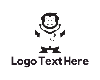 Hospital - Monkey Doctor logo design