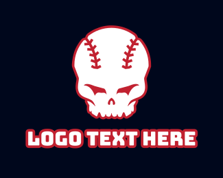 Tournament - Baseball Skull logo design