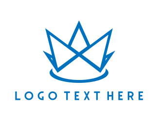 Squarespace - Blue Crown logo design