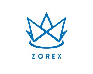 Facebook Blue Crown logo design