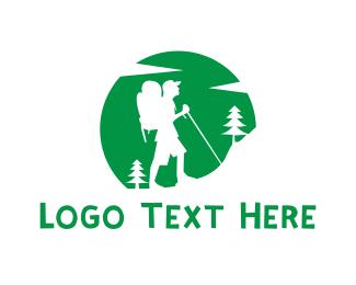 Adventure - Mountain Hiker logo design