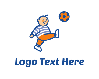 Boy - Soccer Player Cartoon logo design