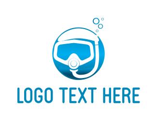 Scuba - Diving Mask logo design