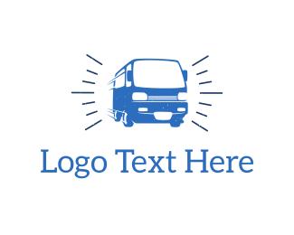 Truck - Blue Van  logo design