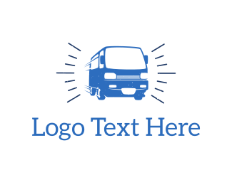 Rental - Blue Van  logo design