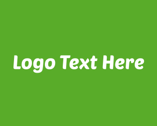 Wordmark - Modern Green & White Text logo design