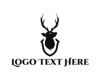 Whiskey - Deer Head Trophy logo design