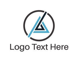 Pyramid - Triangle & Circle logo design