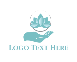 Relax - Blue Lotus logo design