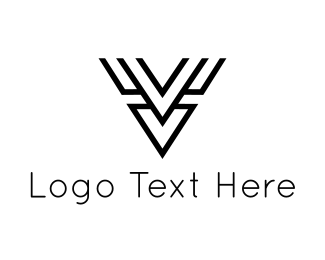 Line Art - Abstract Deer  logo design