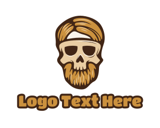 Dress Up - Hipster Skull Mask logo design