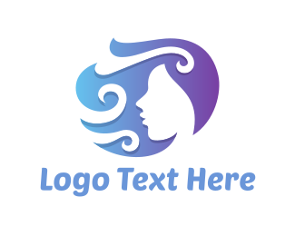 Curly - Curly Woman logo design