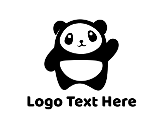 Chinese - Cute Baby Panda logo design