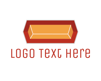 Geometry - Gold Ingot logo design