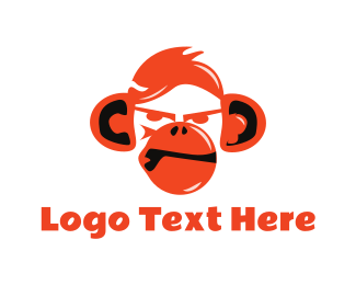 Aggresive - Aggresive Red Monkey logo design