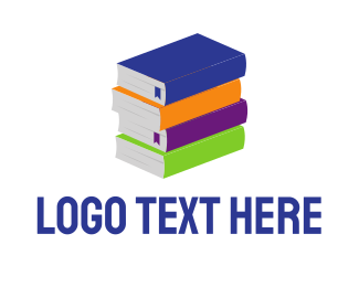 Book - Colorful Books logo design