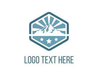 Sunrise - Mountains & Stars logo design