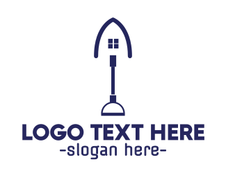 Contractor - Blue Shovel House logo design