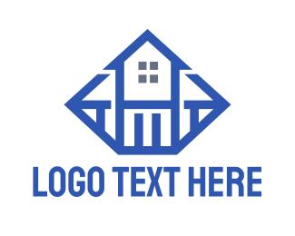 Jewelry Store - Blue Diamond House logo design
