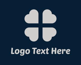 Luck - Silver Clover logo design