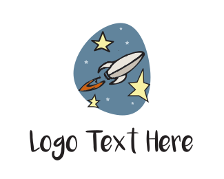 Explorer - Space Rocket  logo design