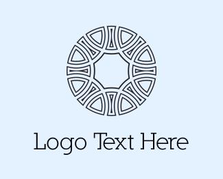 Mandala - Circle Emblem  logo design