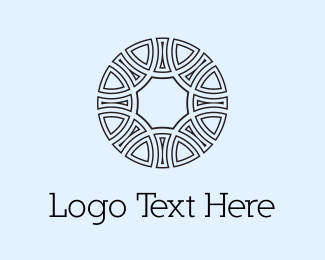 Tribal - Circle Emblem  logo design