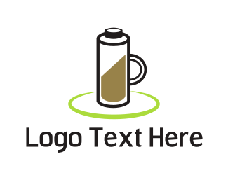 Charger - Coffee Battery logo design