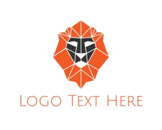 Feline - Diamond Lion logo design