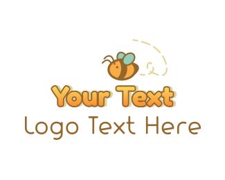 Honeycomb - Cute Honey Bee logo design