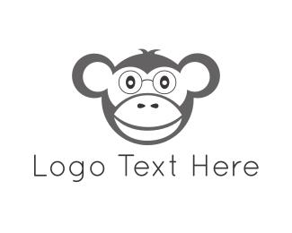 Monkey - Nerd Monkey logo design