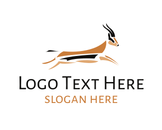 Hunter - Jumping Gazelle logo design