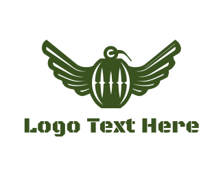 Army - Flying Grenade logo design