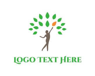 Silhouette - Body Tree logo design
