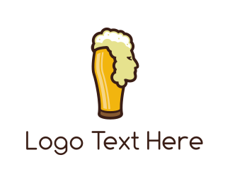 Ale - Beer Head logo design
