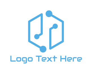 Connectivity - Circuitry Gaming logo design