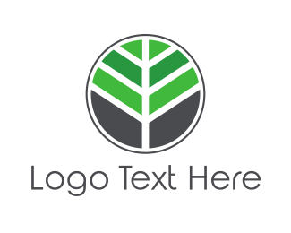 Badge - Mosaic Tree Leaf logo design