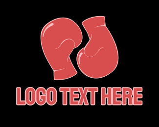 Athlete - Boxing Gloves logo design