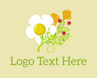 Bed And Breakfast - Egg & Greens logo design