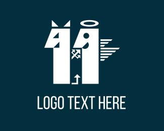 Marriage - Devil & Angel logo design
