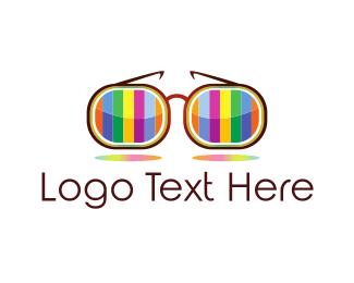 Talk Show - Colorful Glasses logo design