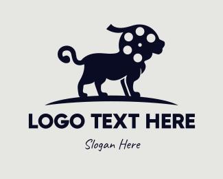 King - Lion Reel logo design