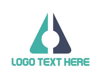 Letter A - Corporate Triangle logo design