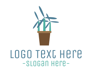 Windmill - Windmill Flowers logo design