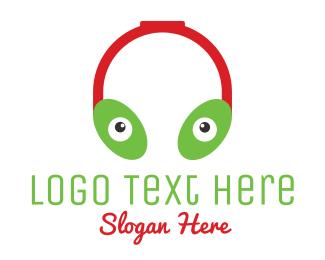 Headset - Alien Headphones logo design