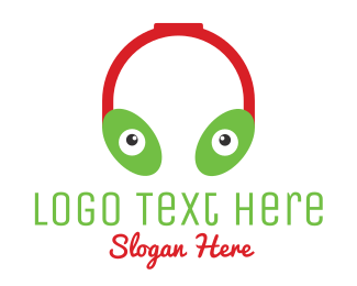 Stereo - Alien Headphones logo design