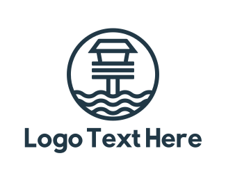 Lighthouse - Blue Beach House logo design