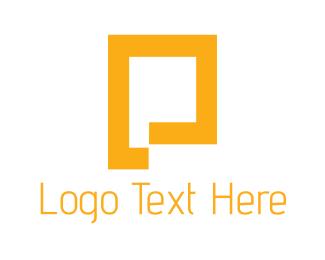 Golden - Golden Letter P logo design